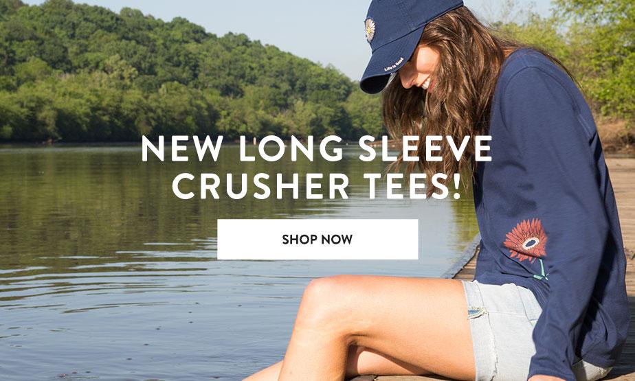Shop Women's Long Sleeve Crusher Tees