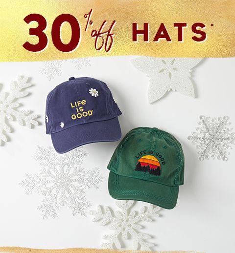 30% off hats