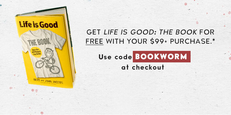 Get a free book with at $99 purchase. Use code Bookworm
