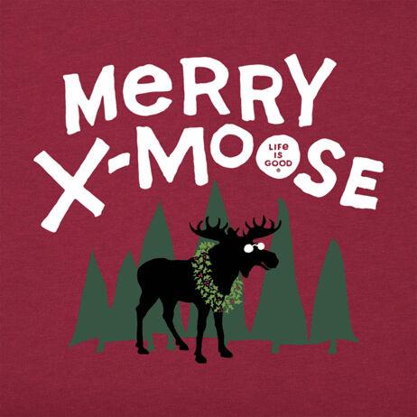 graphic tee Christmas moose