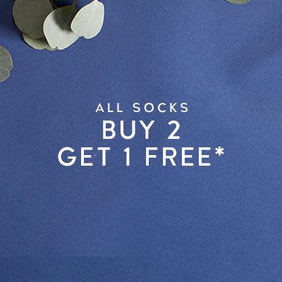 All Socks Buy 2 Get 1 Free