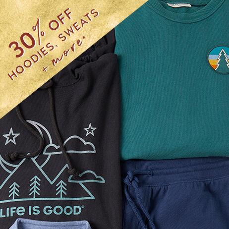 30% off sweatshirts