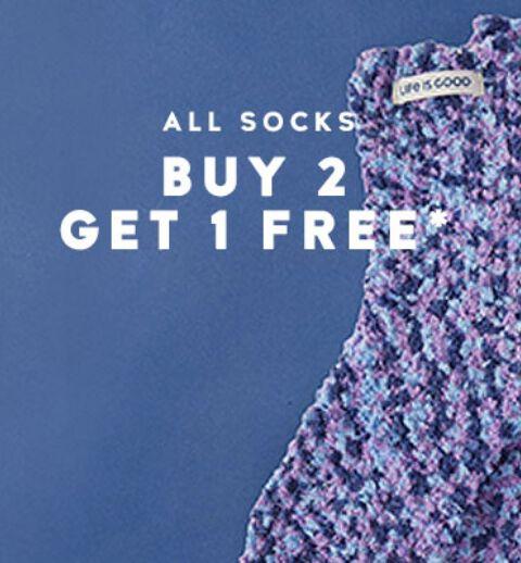 Buy 2 Socks Get 1 Free