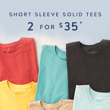 Get 2 Solid Tees for $35