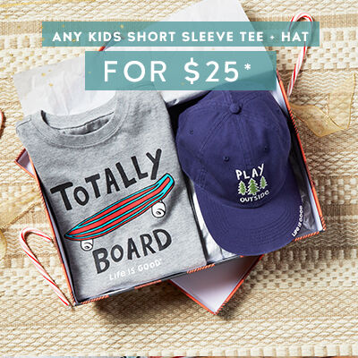 Any Kids Short Sleeve Tee & Hat for $25