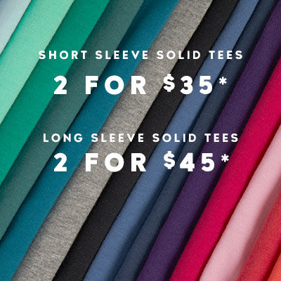 Solid Tees 2 for $35
