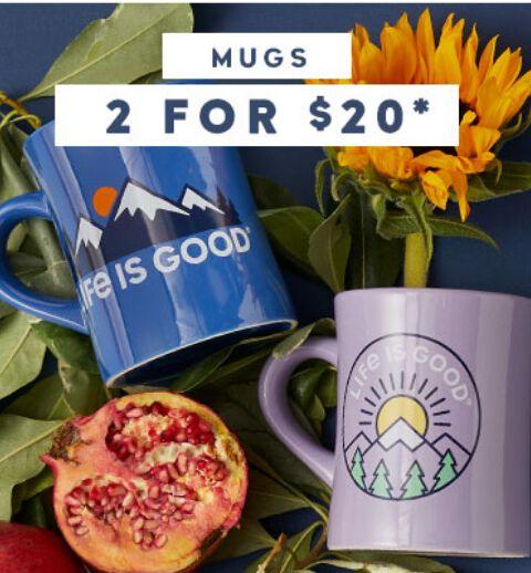 Get 2 Mugs for $18