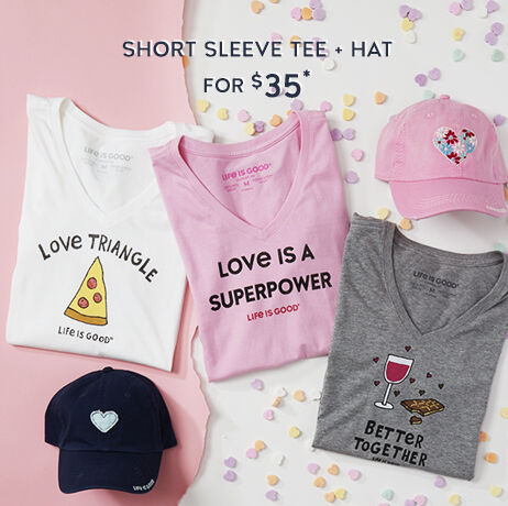 Short sleeve tee and hat for $35