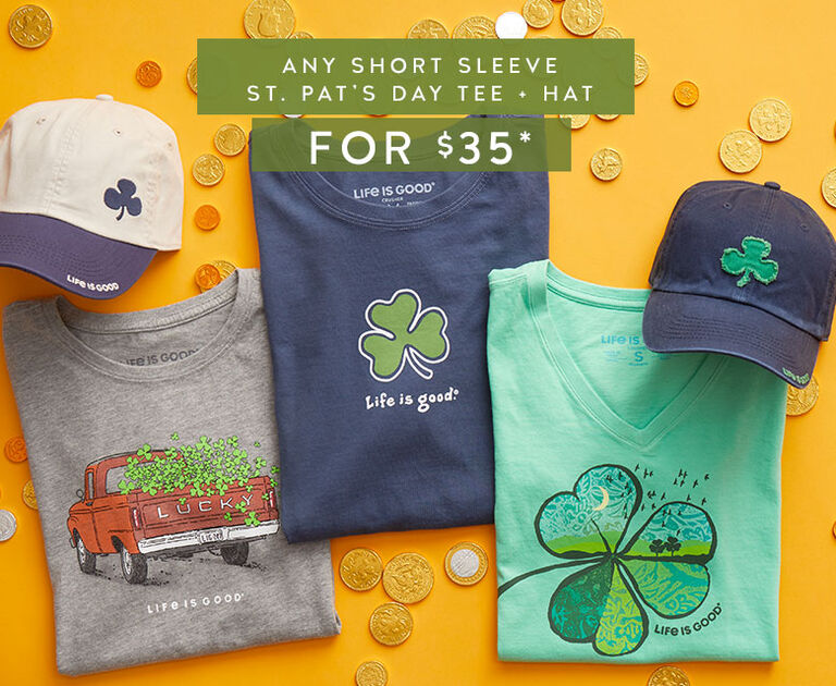 Any Short Sleeve St. Patrick's Day Tee and Hat for $35