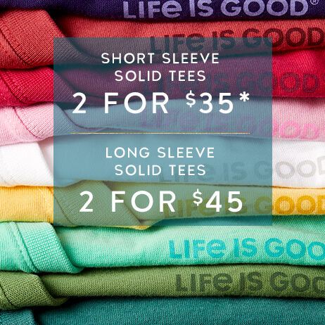 Shop Women's Solid Tees and get 2 for $35