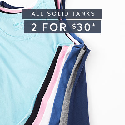 2 Solid Tanks - 2 for $30