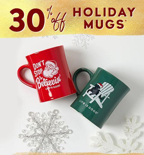 30% off holiday mugs