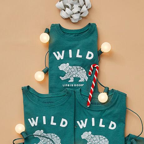 life is good kids holiday tee shirts