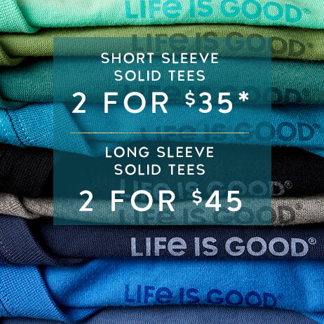 Shop Men's Solid Tees and get 2 for $35