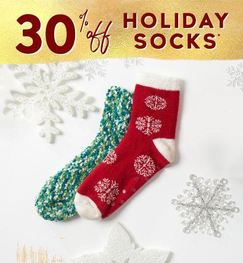 30% off holiday socks