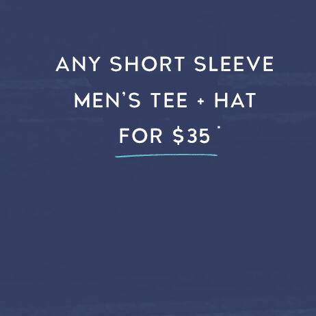 Any Shot Sleeve Men's Tee & Hat for $35
