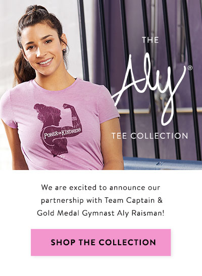 Introducing the Aly Tee Collection inspired by Gold Medal Gymnast Aly Raisman