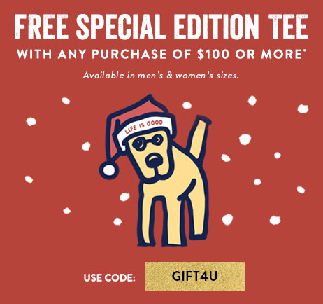 Free Tee with a $100 Purchase