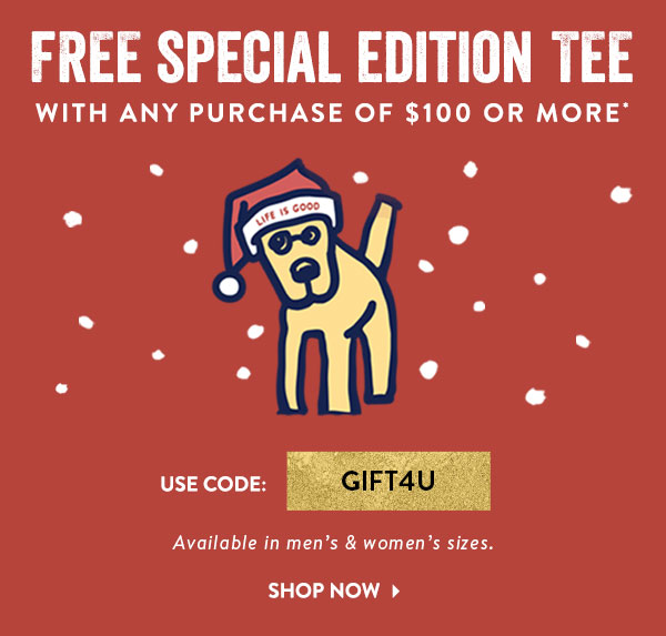 Spend $100 and Get a Free Tee