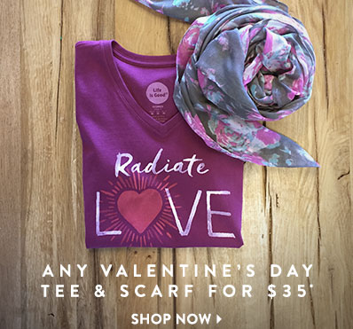 Buy Any Valentine's Day Tee and a Scarf for $35